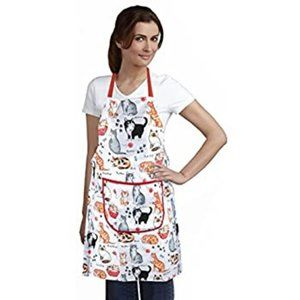 NEW Multi Breed Cats Dish Towels and Apron